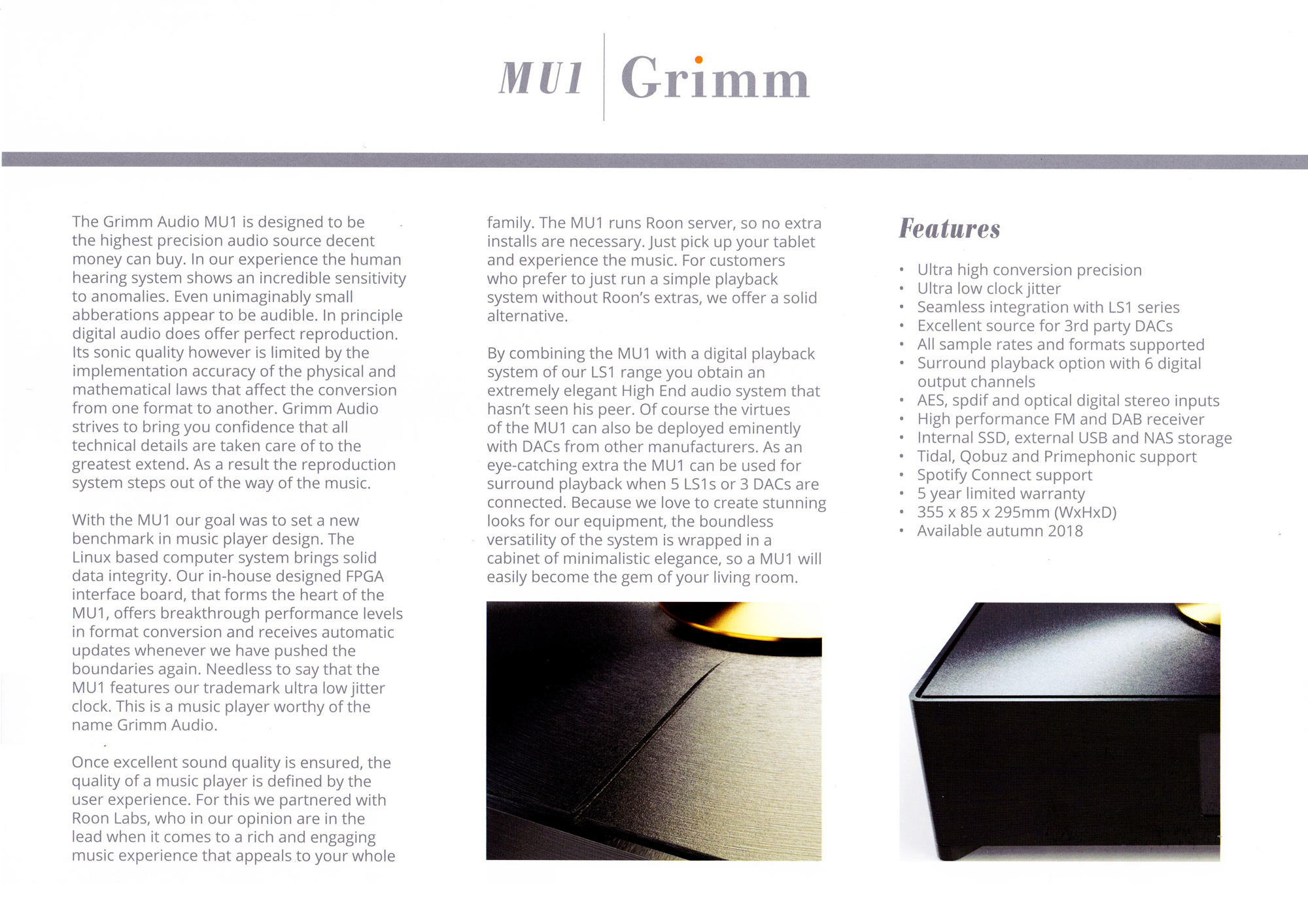 Grimm Audio MU1 – Design w Sound